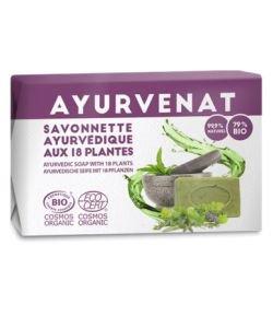 Savonnette Ayurvédique aux 18 herbes - Ayurvénat BIO, 100g
