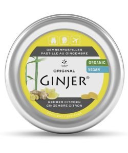 Pastilles Ginjer - Citron BIO, 40g