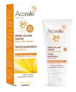 Crème solaire teintée SPF 30 BIO, 50ml
