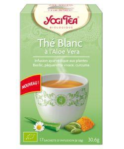 Thé blanc à l'aloe vera - Infusion ayurvédique BIO, 17sachets