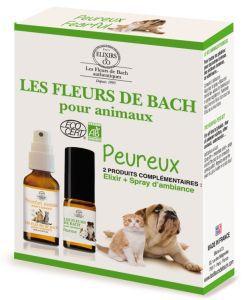 Duo fleurs de bach animaux peureux elixirs co 10 for Alimentation maison pour chien