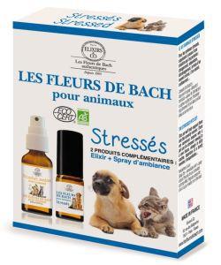 Duo fleurs de bach animaux stress s elixirs co 20 for Alimentation maison pour chien