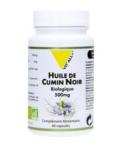 Huile de cumin noir 500 mg BIO, 60capsules