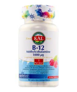 Vitamine B12 Méthylcobalamine (1000 µg), 90comprimés