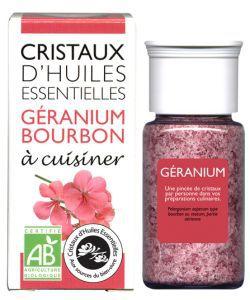 Cristaux d'Huiles Essentielles - Géranium Bourbon BIO, 10g