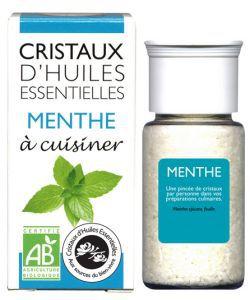Cristaux d'Huiles Essentielles - Menthe BIO, 10g