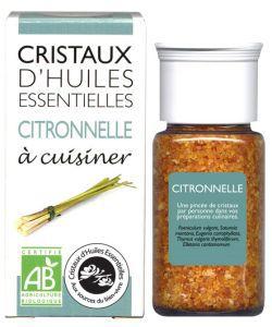 Cristaux d'Huiles Essentielles - Citronnelle BIO, 10g