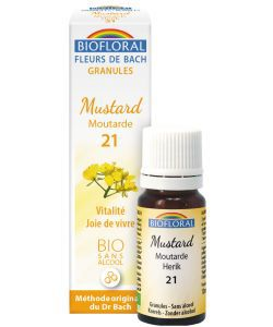 Moutarde - Mustard (n°21), granules sans alcool BIO, 10ml