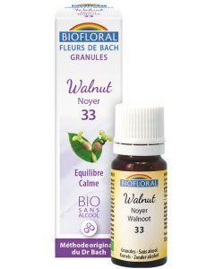 Noyer - Walnut (n°33), granules sans alcool BIO, 10ml