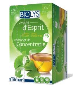 Infusion Vivacité d'esprit (ginkgo-thé vert) BIO, 24sachets
