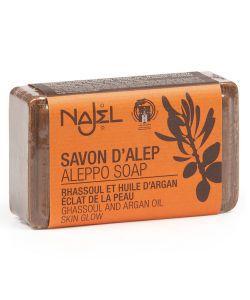 Savon d'Alep enrichi - Huile d'Argan & Rhassoul, 100g