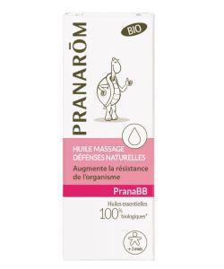 PranaBB - Huile de massage défenses naturelles - sans emballage BIO, 10ml