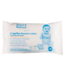 Lingettes bébé biodégradables BIO, 40lingettes