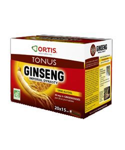 Ginseng Imperial Dynasty - sans alcool - DLUO 10/2019 BIO, 20 fioles
