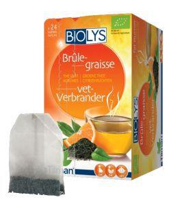 Infusion Brûle-graisse (thé vert - agrumes) BIO, 24sachets
