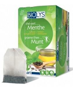 Infusion Thé vert - Menthe (tonique rafraîchissant) BIO, 24sachets