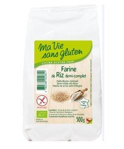 Farine de riz demi-complète