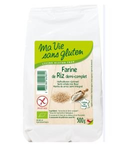 Farine de riz demi-complète BIO, 500g