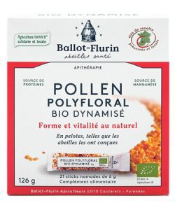 Pollen polyfloral dynamisé BIO, 21sticks