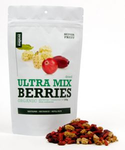 Ultra Mix (baies goji, cranberries et mûres blanches) - Sachet refermable BIO, 200 g