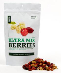 Ultra Mix (baies goji, cranberries et mûres blanches) - Sachet refermable BIO, 200g