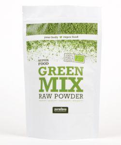 Green Mix (chlorella, spiruline, blé, orge) - Super Food BIO, 200g