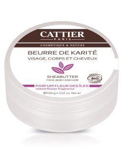Beurre de Karité - Parfum Fleur des Iles BIO, 100g