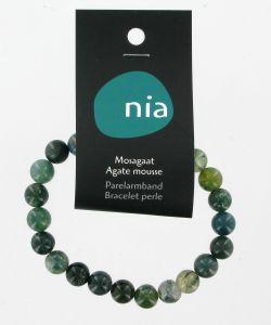 Bracelet perle - Agate Mousse, pièce