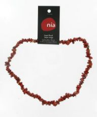 Collier baroque - Jaspe rouge