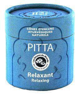 Pitta - Relaxant - Cônes d'encens Ayurvédiques naturels, 15cônes