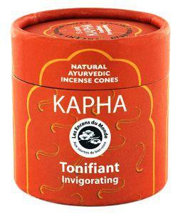 Kapha - Tonifiant - Cônes d'encens Ayurvédiques naturels, 15cônes