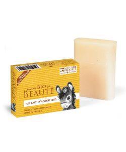 Savon au lait d'ânesse et au miel - sans parfum BIO, 100g