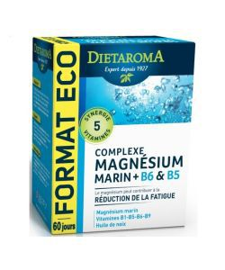 Complexe Magnésium marin + B6 & B5, 120capsules