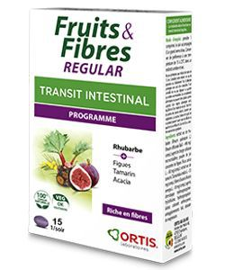 Fruits & Fibres regular - Transit intestinal , 30 comprimés