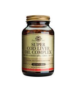 Super Cod Liver Oil Complex (Huile de Foie de Morue), 60softgels