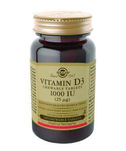 Vitamine D3 25 µg (1000 UI), 100comprimésàcroquer