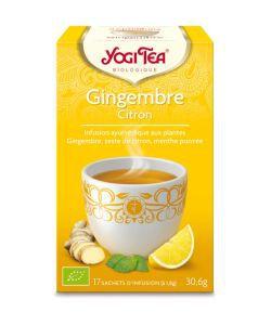 Gingembre Citron - Infusion Ayurvédique BIO, 17sachets