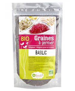 Graines à germer - Basilic - DLUO 10/2019 BIO, 100g