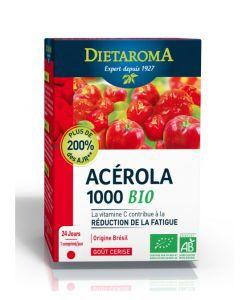 Acerola 1000 - Goût cerise BIO, 24comprimés