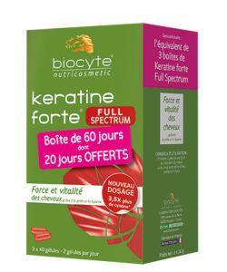 Pack Keratine Forte Full Spectrum, 120gélules
