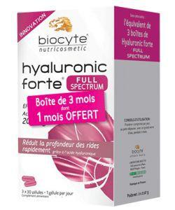 Pack Hyaluronic Forte Full spectrum 200 mg, 90gélules