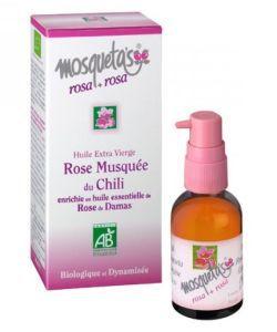 Huile de Rose Musquée (+ Huile essentielle Rose de Damas) BIO, 30ml