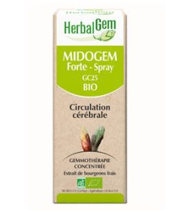 Midogem Forte - Spray - Circulation cérébrale BIO, 10 ml