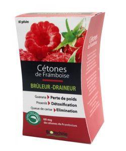 Cétones de framboise - Brûleur-Draineur, 60gélules