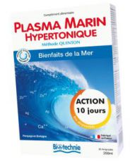 Plasma marin hypertonique