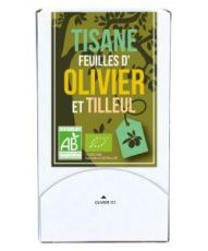Tisane feuilles d'Olivier-Tilleul