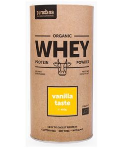 Protéines de petit-lait vanille BIO, 400g