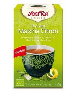 Thé vert Matcha Citron BIO, 17sachets