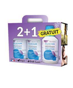 Silicium organique 100% naturel - 2 + 1 GRATUIT, 3x500ml