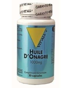 Huile d'onagre 1000 mg, 30 capsules